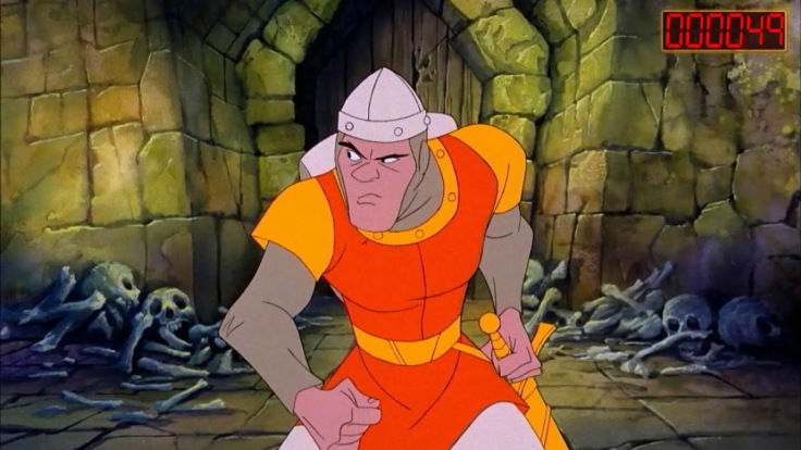 Imagine Don Bluth's Dirk the Daring switching from traditional to computer animation alongside Mario and Luigi.